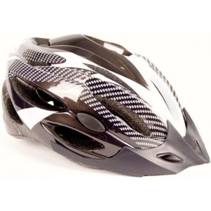 Helm carbon zwart/wit 54-58 mirage