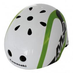 Helm Kinder KAWASAKI wit/groen