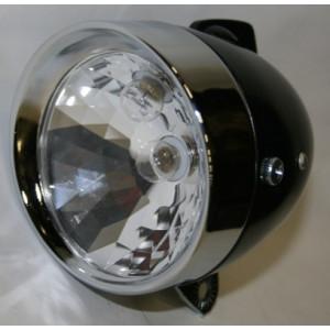 Gazelle koplamp tour zwart/chroom+schakelaar