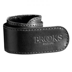 Brooks broekklem leer zwart
