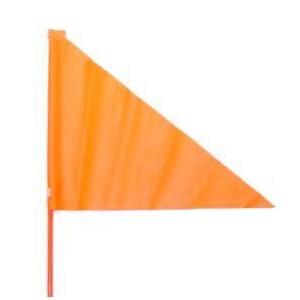 Vlag  oranje 150cm (deelbaar)