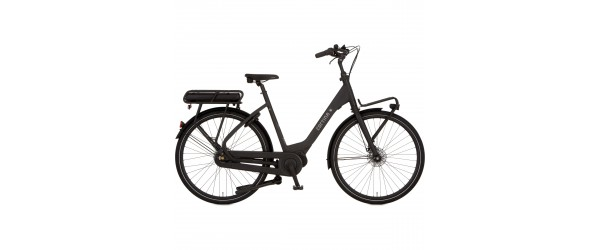"Cortina E-Common e-bike dames 28"" Zwart mat 50cm"