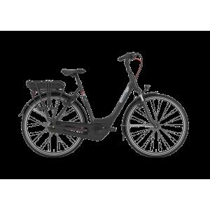 """Gazelle Paris C7+ HMB dames Elektrische fiets 28"""" 49 cm zwart mat"""
