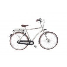 "Union E-Bendil is de E-bike 28"" heren kleur silver  3 versnelling en handremmen  57 cm"