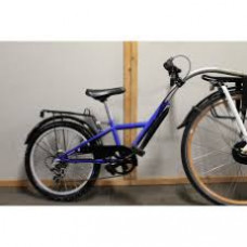 "Tandembike  20"" + drager  3v blauw"