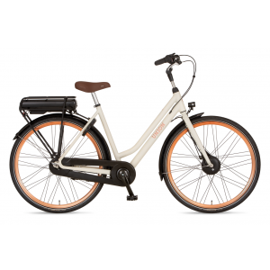 "Union E-curb dames 28"" wit 53cm elektrisch"
