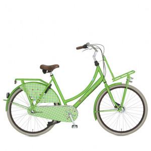 """lief! Cortina fiets 24"""" dames kleur mat groen 3 versnellig en terugtraprem met voordrager"""