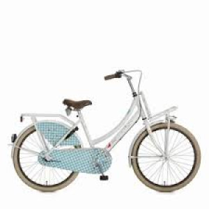"""lief! Cortina fiets 24"""" dames kleur mat parel wit 3 versnelling en terugtraprem met voordrager"""