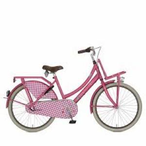 """lief! Cortina fiets 26"""" dames kleur mat roze  3 versnelling en terugtraprem met voordrager"""