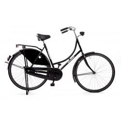25% Korting Hollandse omafiets 28x1.1/2  kleur Mat zwart 57 cm