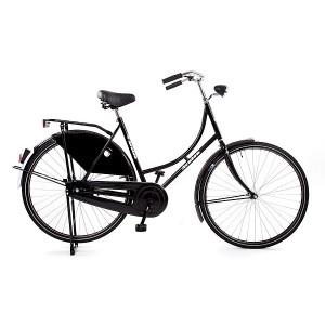 25% Korting Hollandse omafiets 28x1.1/2  kleur zwart 50 cm