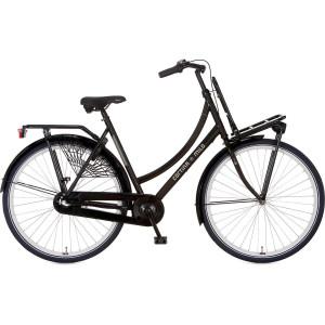 Cortina Milo Dames terugtraprem 3 versnelling kleur zwart 49 cm