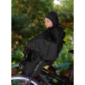 Deryan Bike-a-way Jepp/Mini - Fietsstoeltje voor -fiets Regenhoes, warme jas en windbreaker + regenponcho ( gebruikt )