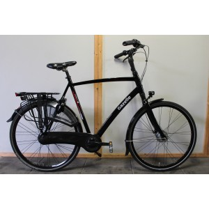"Gazelle Chamonix C8 heren 65cm zwart 28"""