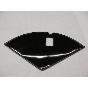 "Jasbeschermers 24 ""  zwart  PVC  met  slotgat"