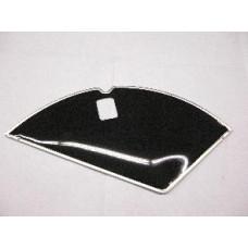 "Jasbeschermers  28 ""  x 1 .1/2 PVC  zwart  met slotgat"