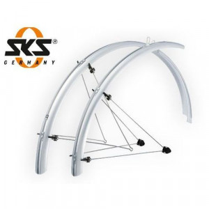 "Spatbord set SKS 28""45 mm silver"